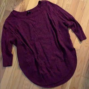 Express tunic sweater